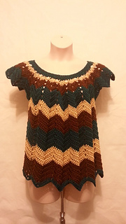 Ravelry Womens Plus Size Chevron Top Pattern By Crystal