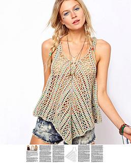 Ravelry Boho Crochet Top Pattern By Favoritepatterns