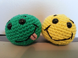 Crochet Amigurumi Smiley Faces : Ravelry: Basic Beginner Amigurumi Smiley Face Ball pattern ...