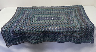Ravelry Rectangle Granny Afghan Pattern By Caron Design Team