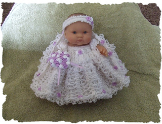 Ravelry Love Knot Wedding Gown For 8 Berenguer Baby Doll Pattern