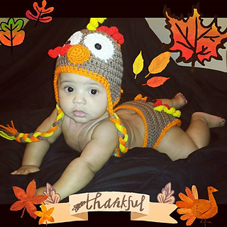 d0c998d01 Thanksgiving Turkey Ear Flap Hat & Diaper Cover pattern by Sissy Johnson