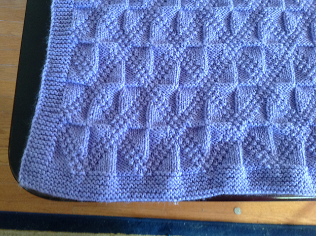 Reversible Baby Blanket Knitting Pattern Free - Reversible cable ...