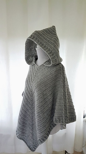 Ravelry: Hooded Poncho pattern by Frisian Knitting