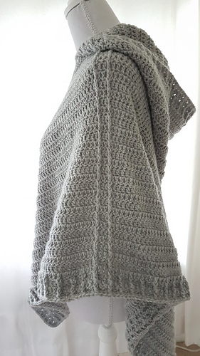 Ravelry Hooded Poncho Pattern By Frisian Knitting