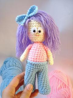 Amigurumi Hello Kitty Crochet Pattern : Ravelry: Amigurumi Girl Doll with Bow pattern by AllSoCute ...