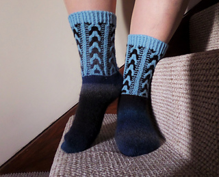 Blueberry Clouds Socks