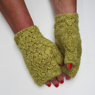 Bouquet Fingerless Mitts