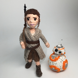Ravelry: Rey Star Wars Force Awakens Amigurumi with BB-8 ...
