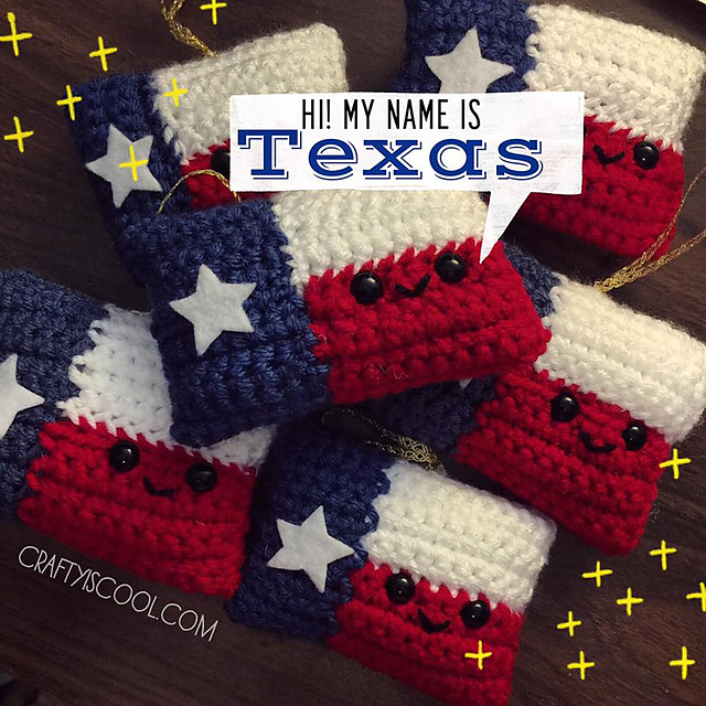 Ravelry Texas Flag Amigurumi Pattern By Allison Hoffman