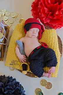 6a60a8276 Newborn Pirate Outfit pattern by Amanda Kuhn
