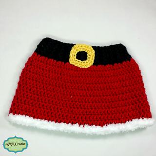 fdeb9616e Newborn Mrs. Claus Hat and Skirt pattern by Amanda Kuhn