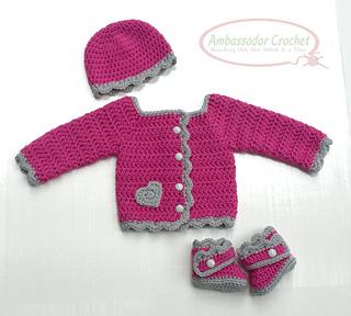 8cb9df008451 Ravelry  Jordan Baby Sweater Set pattern by Kristine Mullen