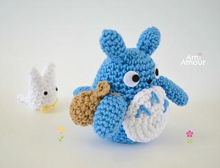 Amigurumi Totoro : Ravelry totoro amigurumi set pattern by ami amour