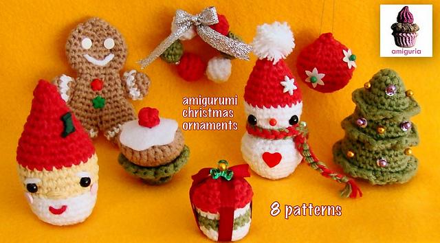 Amigurumi Christmas : Ravelry amigurumi christmas ornaments pattern by amiguria amigurumi