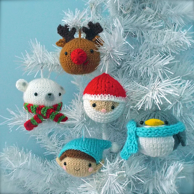Ravelry: Christmas Balls Knit Ornament Pattern Set pattern by Amy Gaines