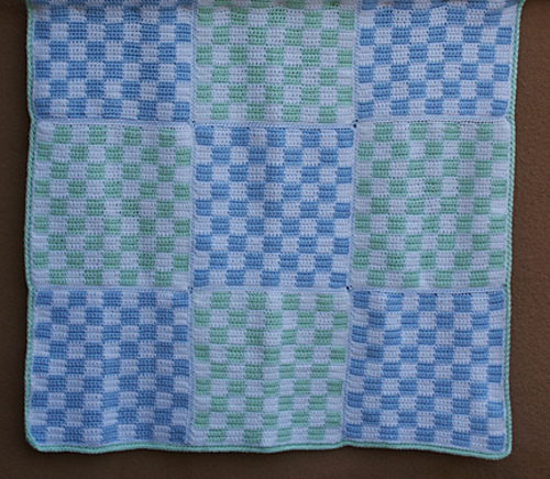 Ravelry Gingham Check Baby Blanket Pattern By Amy Solovay