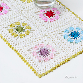 Ravelry Flowers Tablecloth Pattern By Anabelia Handmade