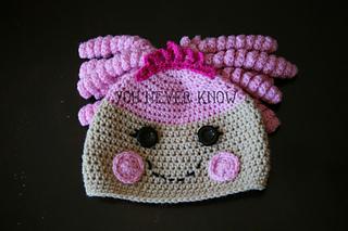 Amigurumi Doll Lalaloopsy Pattern : Ravelry lalaloopsy doll inspired hat pattern by andrea womack