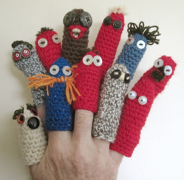 Ravelry Simple Crochet Finger Puppet Pattern By Andy Newton