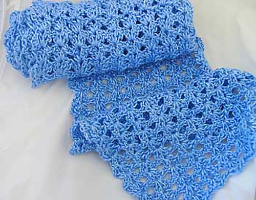 Ravelry Scallop And Lace Crochet Scarf Pattern By Angelika Burles