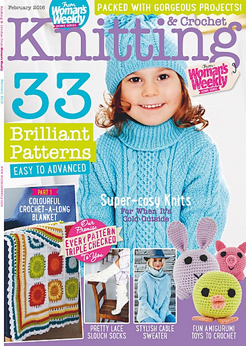 Ravelry Womans Weekly Knitting Crochet Special February 2016