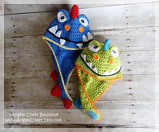 734e217fb3b Ravelry  Dinosaur Hat No. 62 pattern by Mary Angel Morris