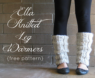 Ravelry ella knitted leg warmers pattern by the willow nest dt1010fo
