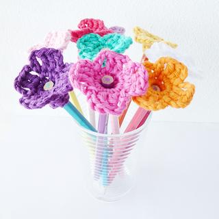 Ravelry pretty flowers to crochet brightly colored crochet flower pencil flowers by annemarie benthem mightylinksfo