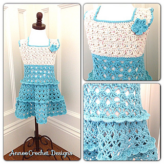 Ravelry Summer Vintage Toddler Dress Pattern By Annoo Crochet