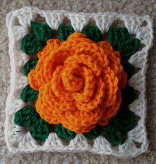 Ravelry: Adams Rose Granny Square pattern by Maria Helsley