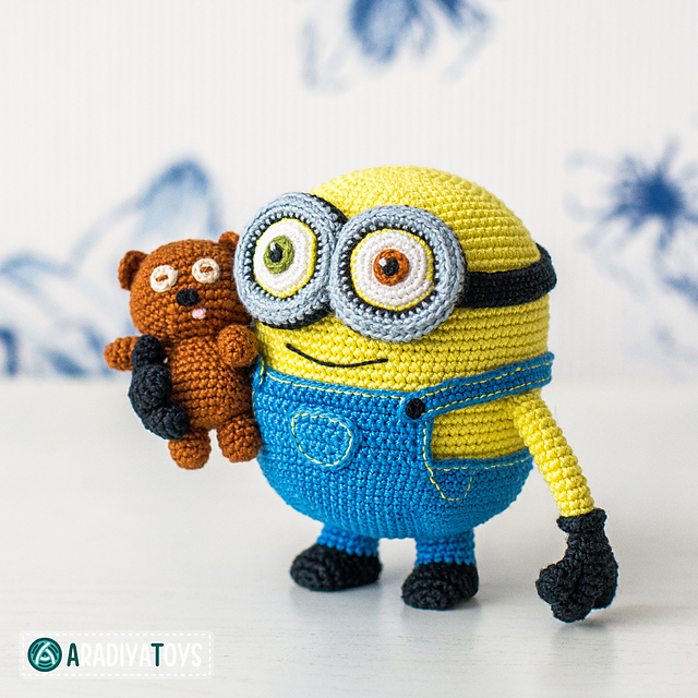 Ravelry minion bob and bear tim from minions pattern by olka novytska dt1010fo