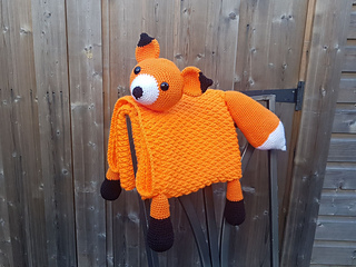 fadb430d1 3 in 1 Woodland Fox Baby Blanket Toy Lovey pattern by Crafting Happiness