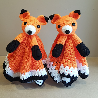1a3c30d7f73de Foxy Fox Lovey Security Blanket pattern by Crafting Happiness