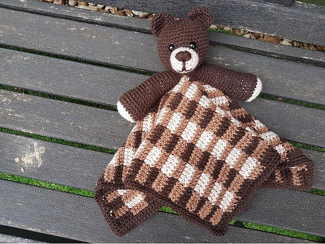 9036435a21d61 Barry The Bear Baby Lovey Security Blanket pattern by Crafting Happiness