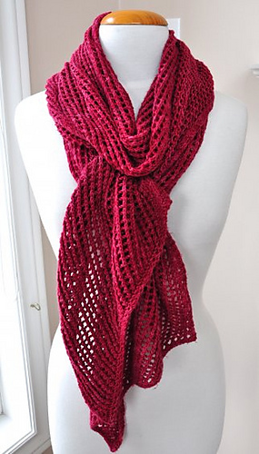 Ravelry Diagonal Openwork Scarf Pattern By Art Of Yarn