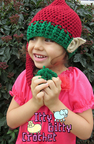 Ravelry Elf Hat With 3d Realistic Ears Pattern By Yvette