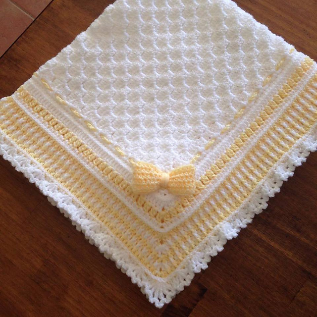 Ravelry Brooklyn Baby Blanket 40 x 40 pattern by Asher Blu Designs Amazing Baby Blanket Patterns