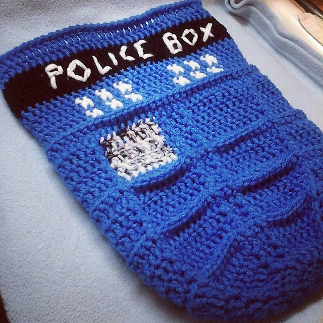 Ravelry Tardis Baby Cocoon Pattern By Ashly Newton