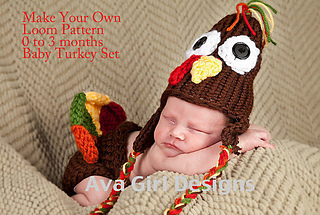 Ravelry  Newborn turkey hat diaper cover Knifty Knitter loom pattern ... bd513944df38