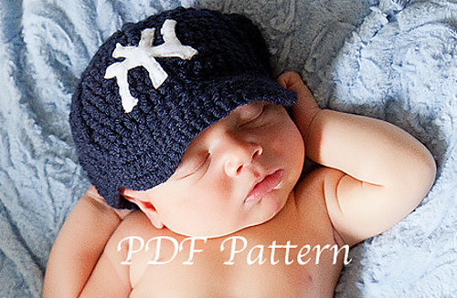 Ravelry  Newborn baby baseball cap and pants set pattern by Ava Girl ... ef465f48777b