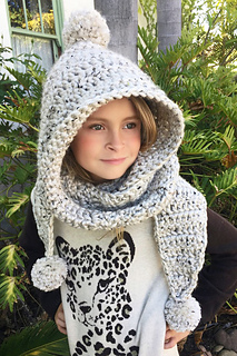 Hooded Scarf Chloe Hood Pattern By Ava Girl Designs Ravelry