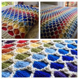 Ravelry 3 Color Honeycomb Stitch Pattern By New Stitch A Day