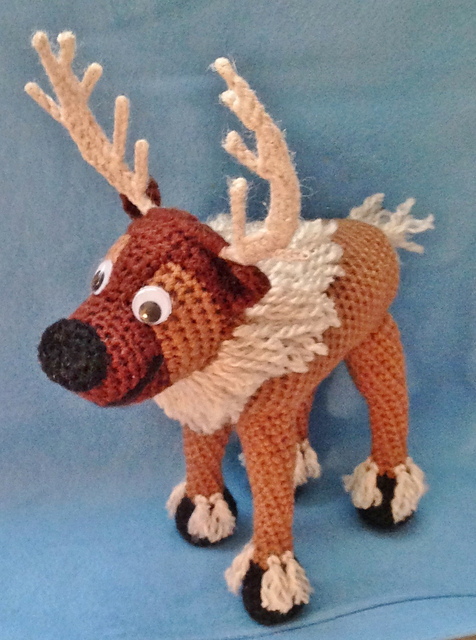 Ravelry Crocheted Reindeer Based On Frozens Sven Pattern By