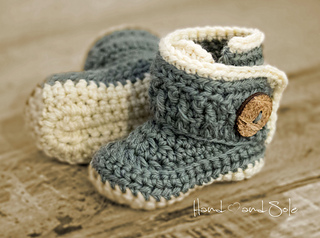6347938db30 Ravelry  Chunky Baby Booties pattern by Hand Heart and Sole