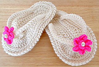 Baby Flip Flop Sandals Pattern By Julie Price Ravelry