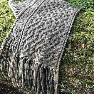Ravelry Creekwater Cabled Scarf Pattern By Pam Connolly