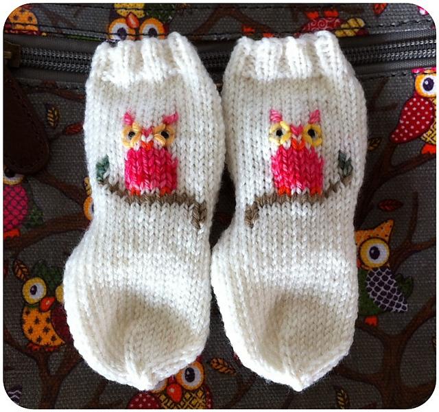 Ravelry Baby Owl Baby Socks Pattern By Beatrix Knits