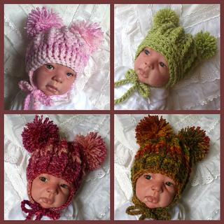 5506c711153 Ravelry  Double Pom Pom Hat  41 pattern by Beautiful-Babys-Bonnets
