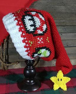 Ravelry Mario Mushroom Santa Hat Pattern By Jessie Alameda